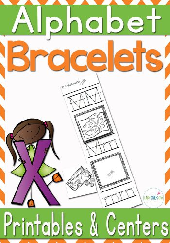 These alphabet bracelets are a fun way to practice letters! Tracing and beginning sounds for every letter!