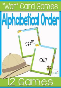 "Practice alphabetical order with your students as they play this fun alphabetical order ""war"" card game! Such a fun way to learn!"