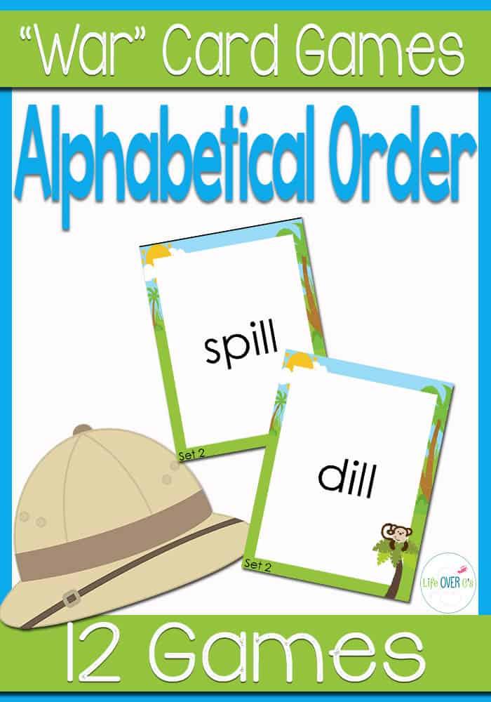 Alphabetical Order War Card Game
