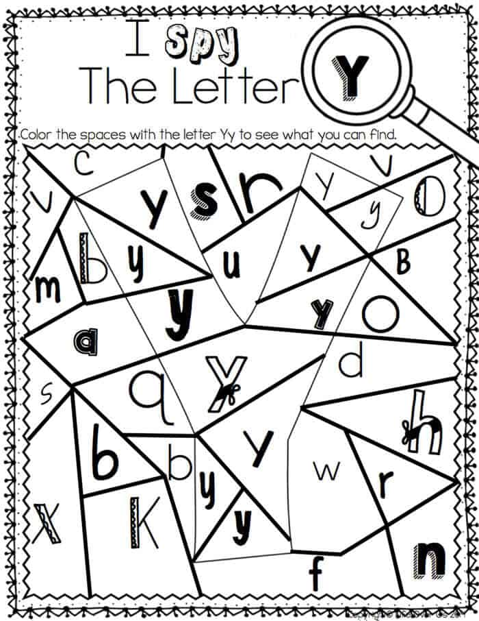 These alphabet I Spy printables and centers are great! Low-prep too! I love the different fonts!