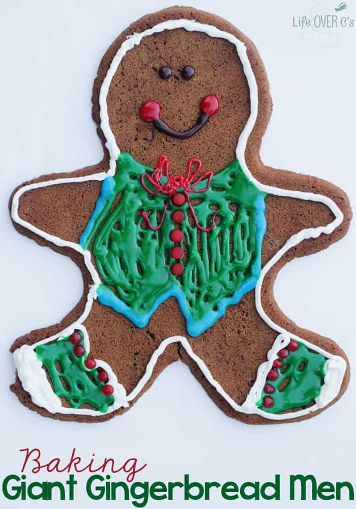 baking giant gingerbread men