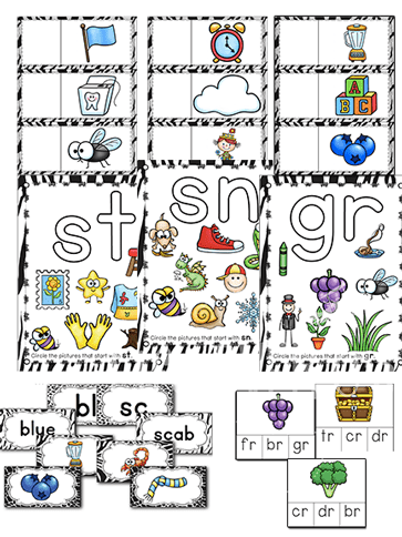 11 different beginning blends and digraph activities for literacy centers. Lots of ways to differentiate and build understanding of blends. Over 120 pages of activities! Leveled puzzles, clip cards, sorting mats, play dough mats, matching cards, card games and more! Your students will be Wild about Blends & Digraphs!
