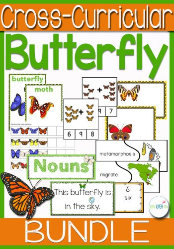 This butterfly math and literacy bundle is perfect for a butterfly or life cycle unit! Practice addition, prepositions, counting, sorting and more with a fun butterfly theme!