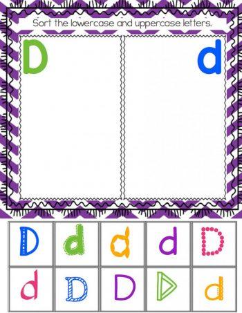 Alphabet Beginning Letter Sound Sorting Activity