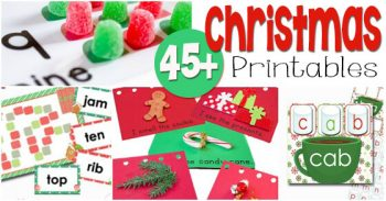 These 45+ Christmas printables for learning make the moth of December so much fun for early elementary and preschool! Math, reading, and more! More are added regularly, so pin this to keep up with the updates.
