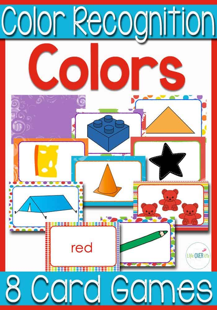 These 8 color recognition card games look so fun! So many ways for kids to learn about colors and have fun too!