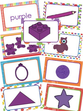 color purple cards
