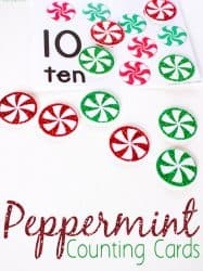Peppermint Counting Cards Numbers 1-10