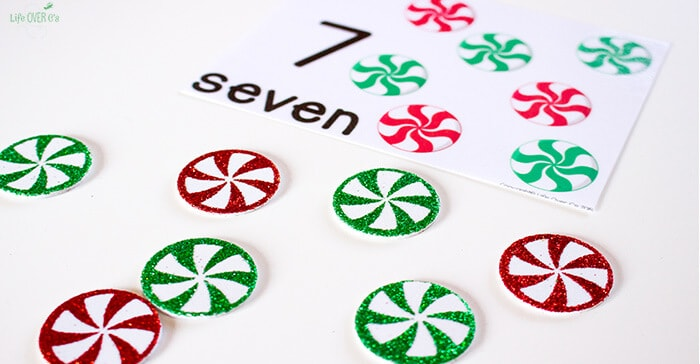 These Peppermint counting cards are so adorable! What a fun way to combine learning numbers with a fun treat!