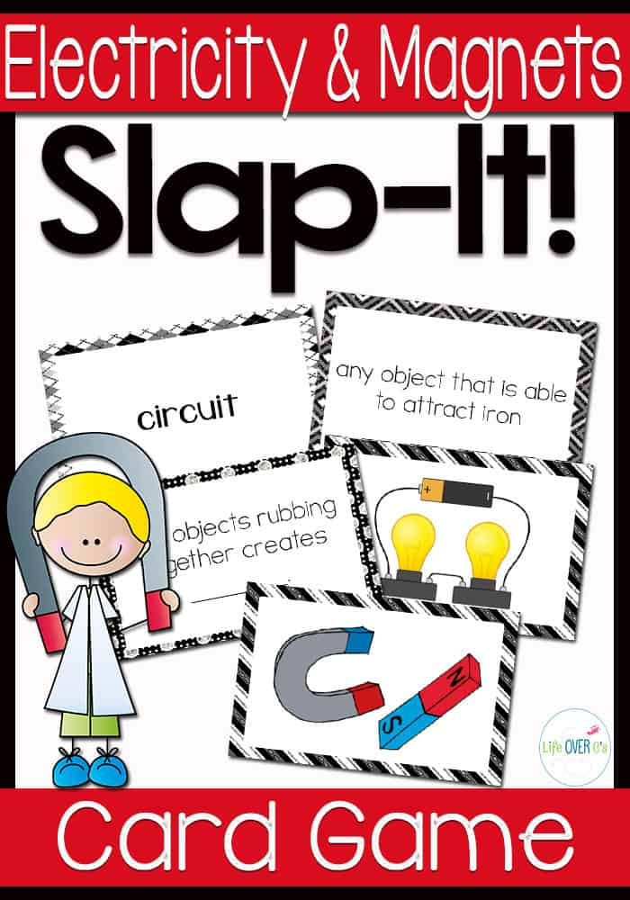Electricity and Magnets Vocabulary Slap-It! Card Game
