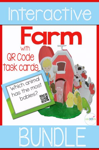 Your students will love this interactive Farm preschool pack! Counting, sorting, patterns, QR codes, play dough and more! Perfect for a farm theme or learning about farm animals!