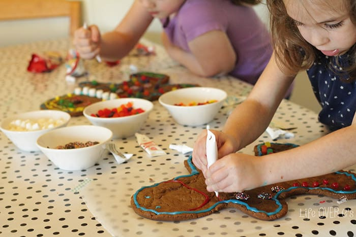 giant gingerbread men decorBake up some giant gingerbread men with your kids this Christmas!ating