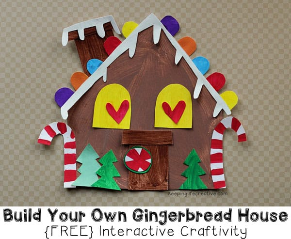 gingerbread house craft includes FREE template