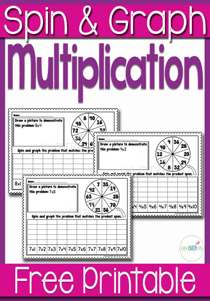 Multiplication Spin & Graph Math Centers