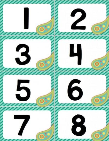 """Great high energy """"Slap-Jack""""-style game for reviewing numbers 0-20. Lots of different number formats to fit your math curricula."""