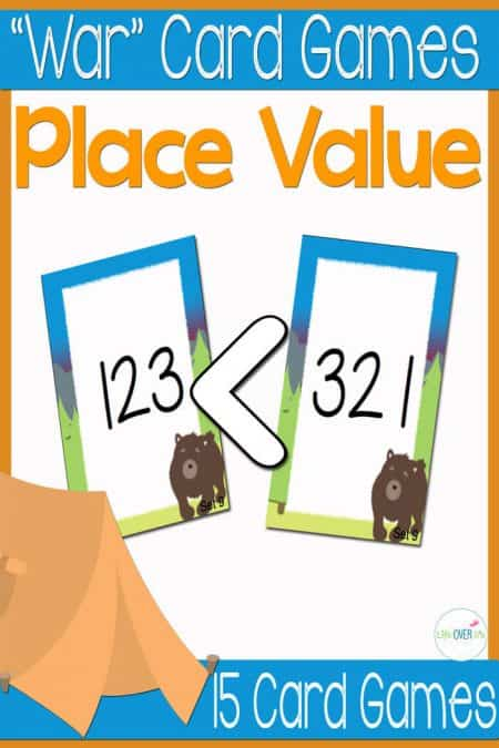 This place value card game set is a super fun way to review place value! 15 different sets of cards give LOTS of opportunities to practice!