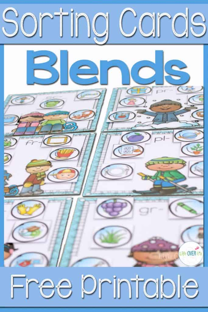 Snowball Blend Sorting Mats. This free word work printable for practicing beginning blends is simply adorable! I love how the kids can match the snowballs to the different winter pictures!