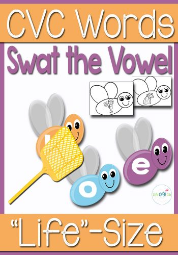 This short vowel review activity is fantastic! The kids will love swatting the matching short vowel from these CVC words!