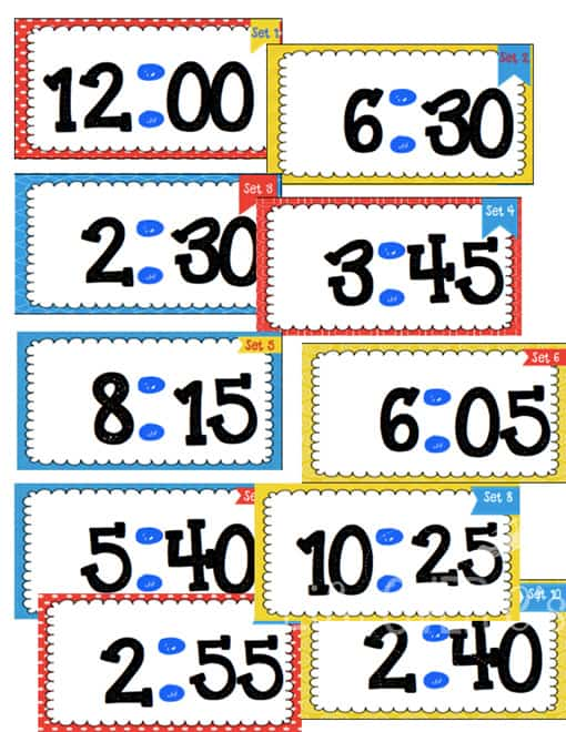 multiple level time task cards