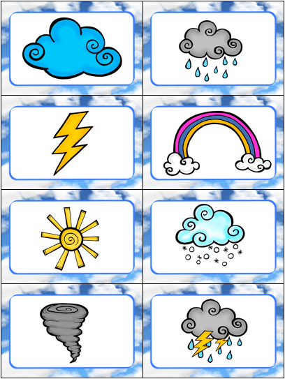 """This Weather Card Game is great for teaching kids weather words! Slap It! is based on the traditional card game """"Slap Jack"""" and the kids LOVE slapping all the words and pictures as they learn about the weather!"""