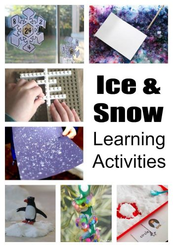 Snow and Ice learning activities to enjoy this winter! Hands-on activities, free printables, art & science!! So many great ideas!