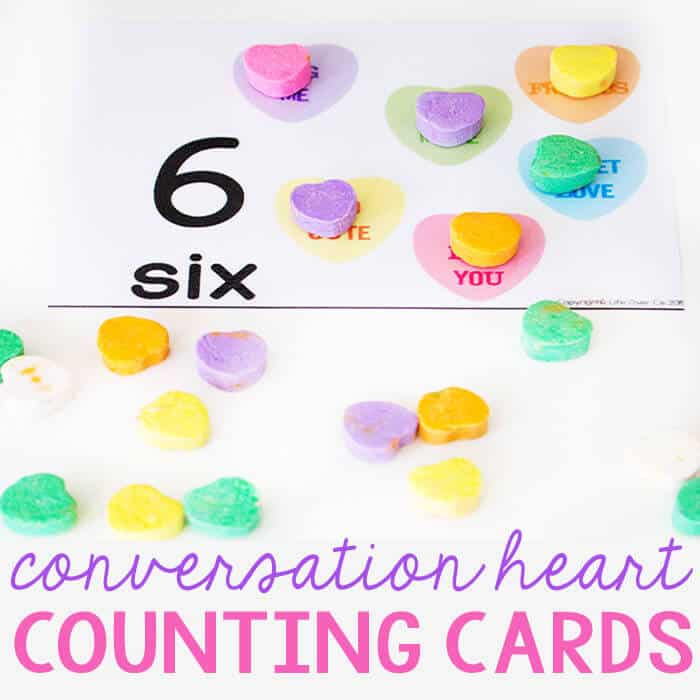conversation heart counting cards