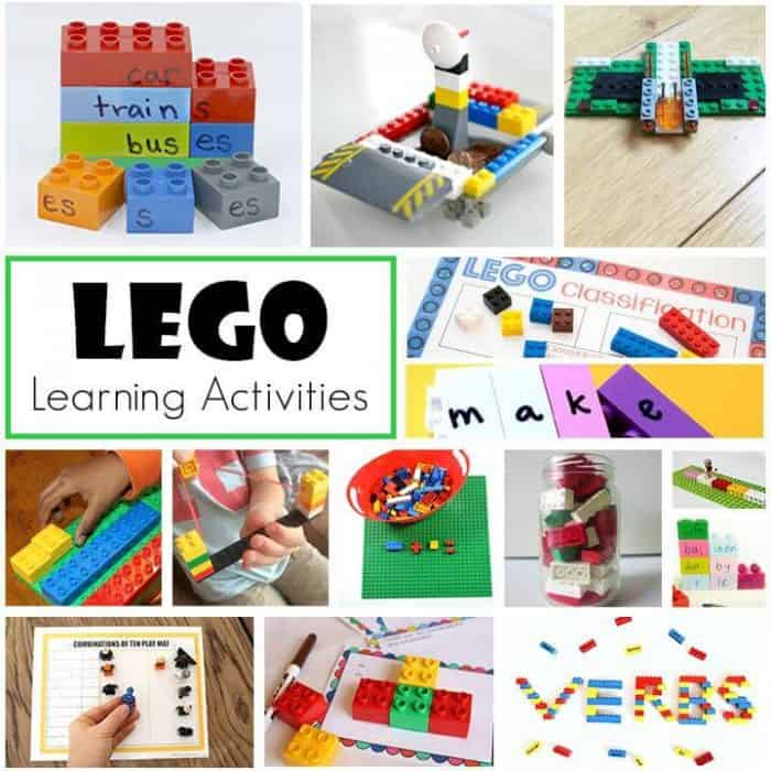 So many fantastic LEGO learning activities for early elementary! Reading, grammar, math, and much more!