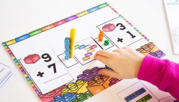 Need a hands-on way to practice addition? This free printable LEGO addition mat is perfect! Practice addition facts, with LEGO models and then compare the sums for greater than/less than. Two skills in one activity!