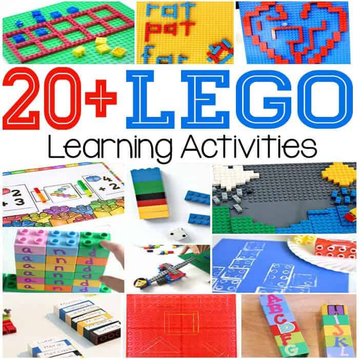 20+ awesome new LEGO learning activities!! Math, reading, process art, STEM and free printables! So many great LEGO activities!