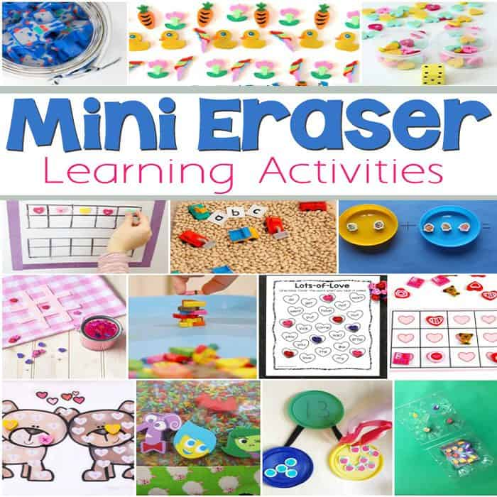 Who loves mini erasers?? These fun, mini eraser learning activities are the perfect excuse to buy even more of those cute little things!