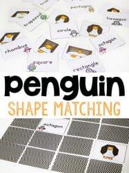 Free Printable Penguin Shape Matching Game