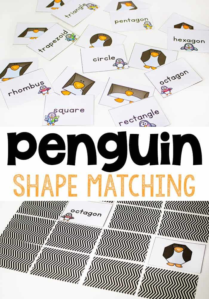 Penguin Shape Matching Game