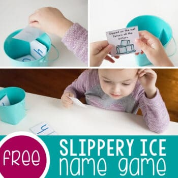 Slippery Ice Customizable Name Game Featured Square Image