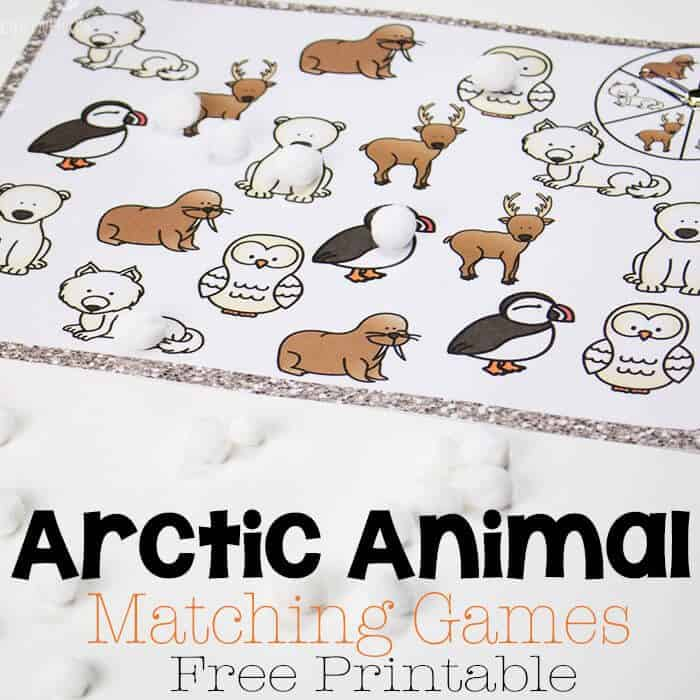 photograph relating to Animal Matching Game Printable referred to as Arctic Animal Matching Video games - Daily life In excess of Cs