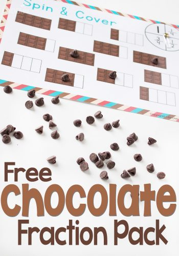This free printable chocolate fractions pack is such a fun way to learn about fractions with your kids! Math is a blast when there is chocolate involved!