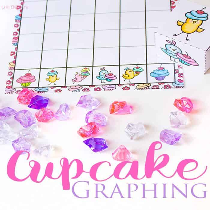 This Valentine's Day Cupcake Graphing free printable is such a fun way to work on graphing skills with kids!! These cute birds and their cupcakes will make math so much fun!!