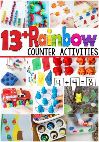 These rainbow counter ideas are amazing!!! So many great ideas for the alphabet, counting, adding, graphing and much more!!!