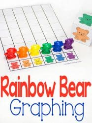 Rainbow Bear Graph for Colors Free Printable