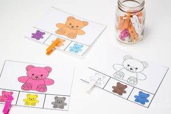 Match colors with these clip cards. Included in this huge preschool pack!!