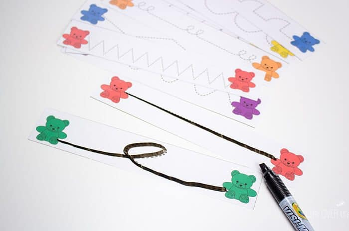 Build pre-writing skills with these printable tracing cards.