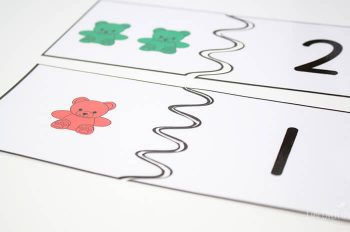 Bear counters puzzles for counting to 10.