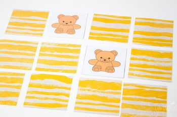Match the rainbow bears memory game for preschoolers. Great for learning colors.