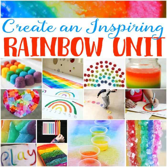 Inspire your students with these awesome rainbow theme learning activities! Science, math, literacy, art, sensory and more!!