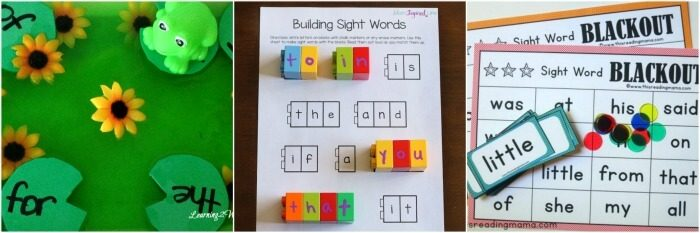 Learning sight words is so much fun with these hands-on activities!