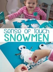 Snowman Collage Sense of Touch