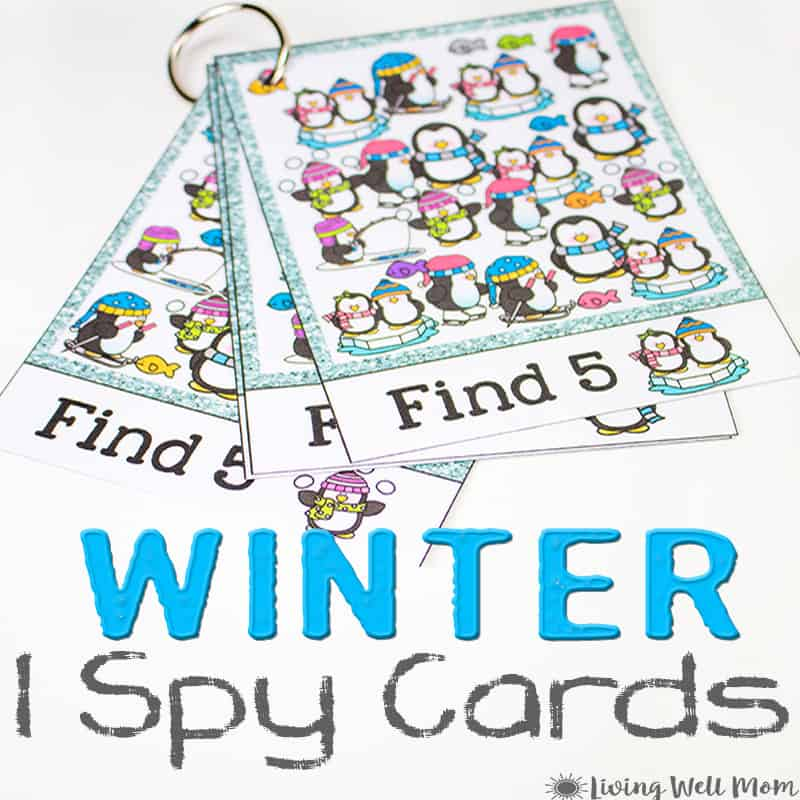 Winter I Spy Printable for Preschoolers