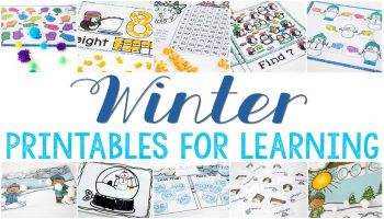 WOW!!! So many winter printables for learning! Over 40 free printables for math, reading, fun and more!!