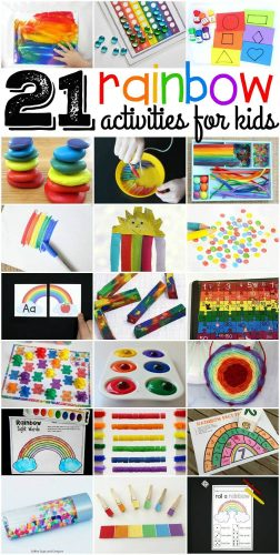 21 Awesome rainbow activities for kids! These rainbow activities look like so much fun!