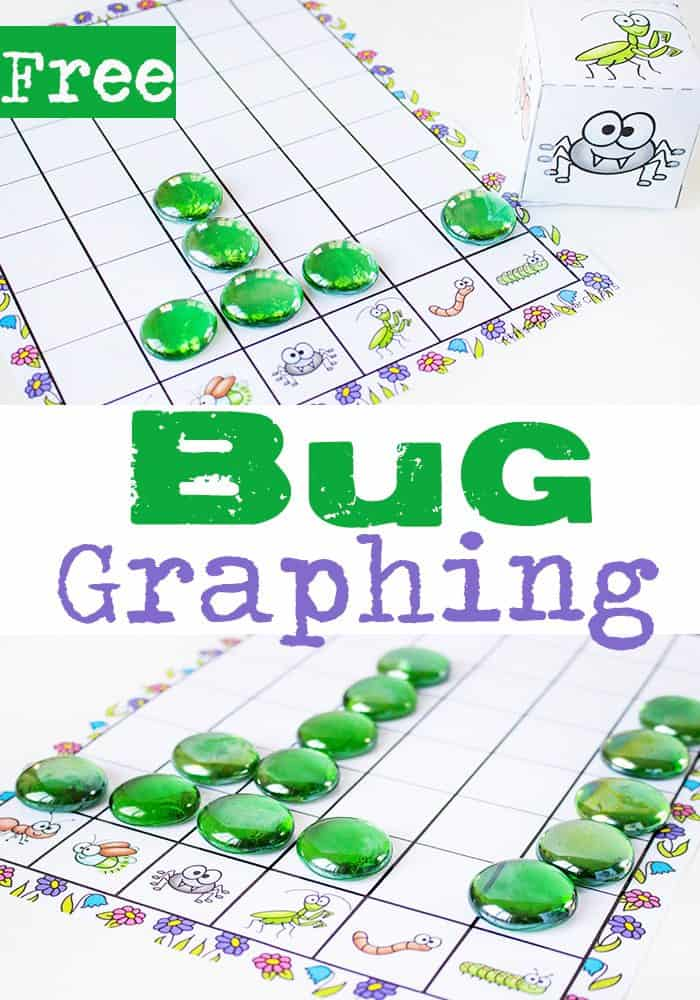Learning to graph is so fun with this free printable bug graphing activity! Kids will love seeing which bug gets rolled the most.