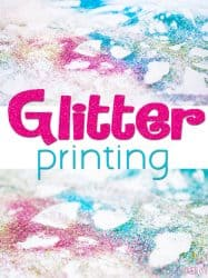 Glitter Printing Process Art
